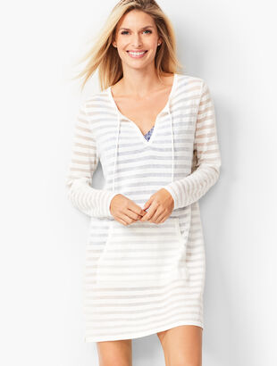 Stripe Knit Beach Pullover