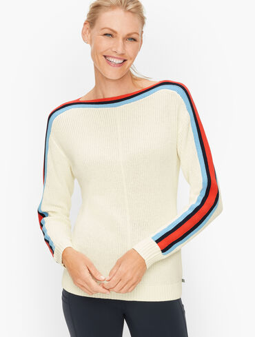 Tipped Stripe Sweater