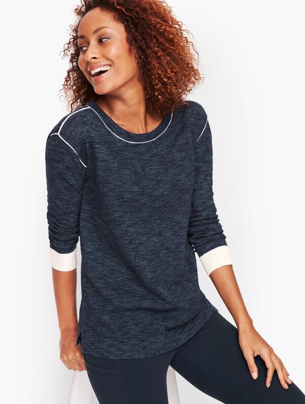 Mesh Trim Sweater