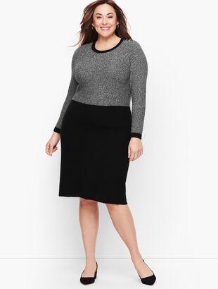 Marled Colorblock Sweater Dress
