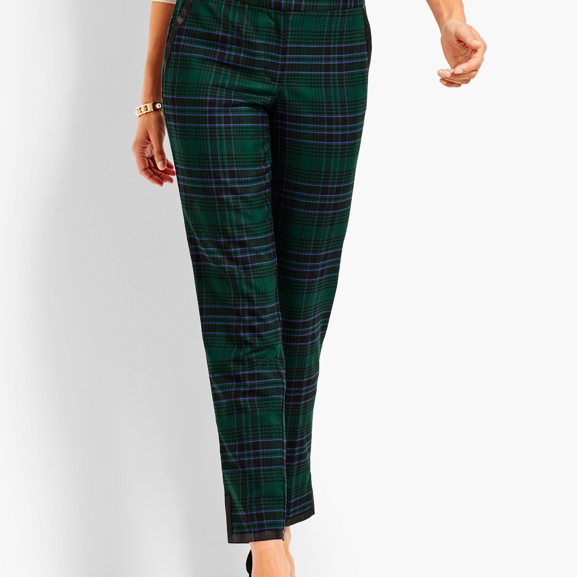 harmonious colors competitive price official images Black Watch Plaid Straight Ankle Pant | Talbots