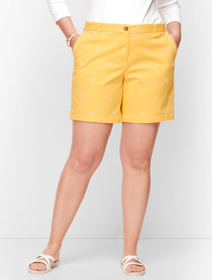 Relaxed Chino Shorts - Daisy Print