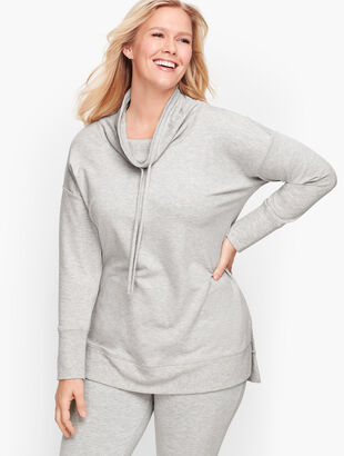 Soft Drape Funnel Neck Pullover