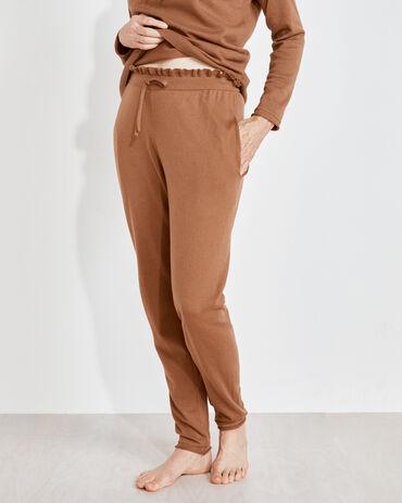 Cotton Cashmere Straight Leg Pants