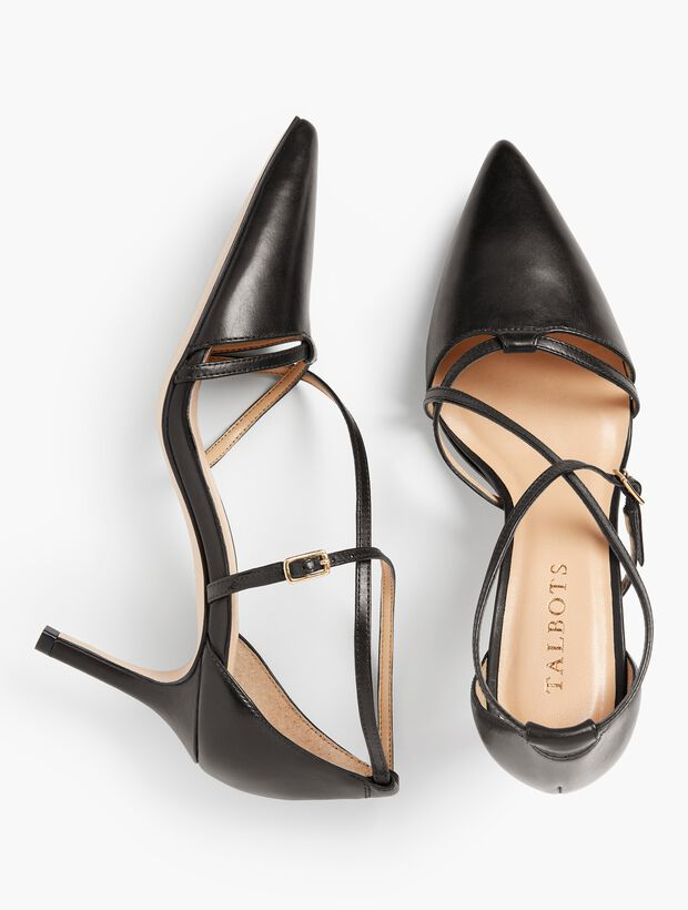 Erica Strappy Pumps - Nappa Leather