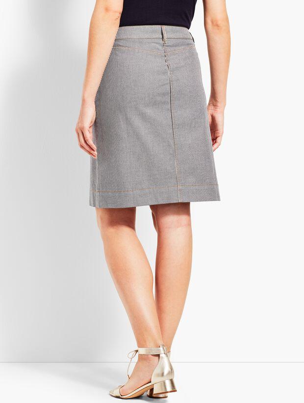 Railroad Stripe A-Line Skirt