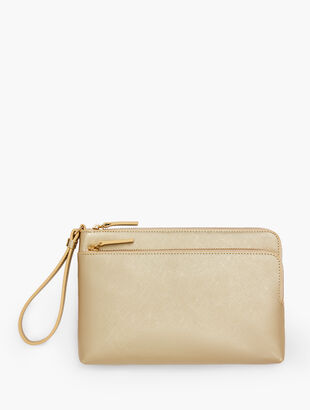 Zip Top Wristlet - Metallic