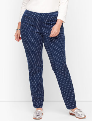 Plus Size Talbots Hampshire Ankle Pants - Garden Dot