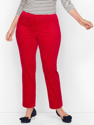 Plus Size Talbots Hampshire Ankle Pants - Velveteen