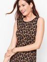 Jacquard Cheetah Print Sheath Dress