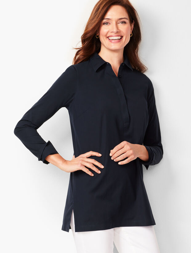 Perfect Button-Back Tunic - Solid