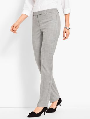 High-Waist Straight-Leg-Chambray