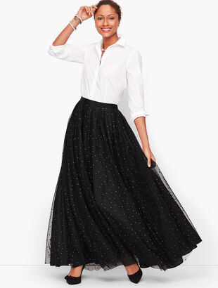 Dot Mesh Ballgown Skirt