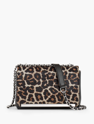 Calf Hair Leopard Shoulder Bag