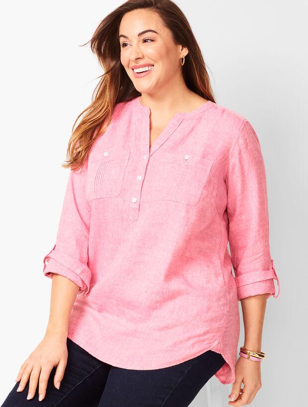 Linen Camp Shirt - Cross Dyed