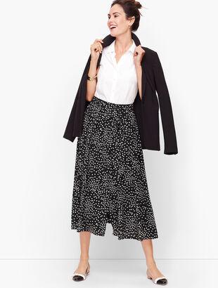 Dot Button Front Skirt