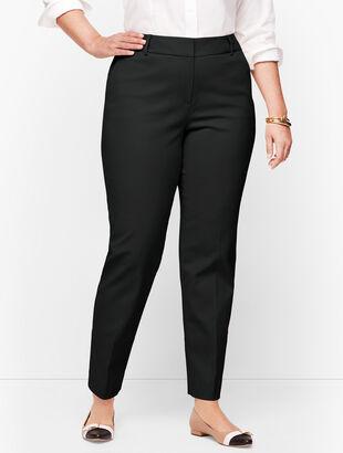 Plus Size Talbots Hampshire Ankle Pants - Double Weave - Traditional Hem