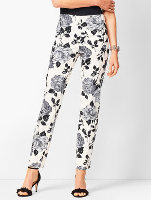 Talbots Chatham Ankle Pants - Tonal Floral