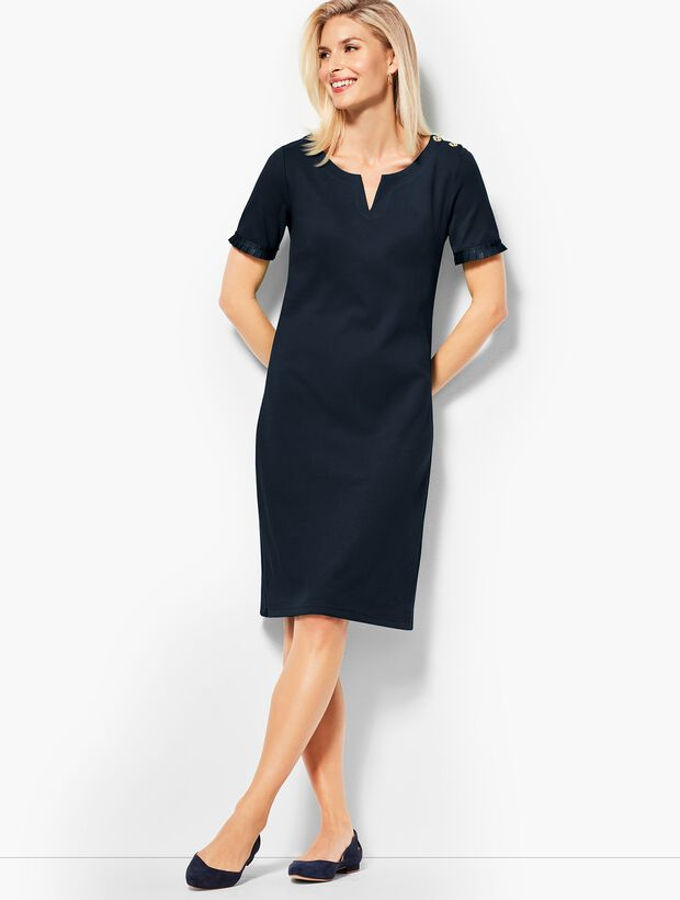 Grosgrain-Trim Dress