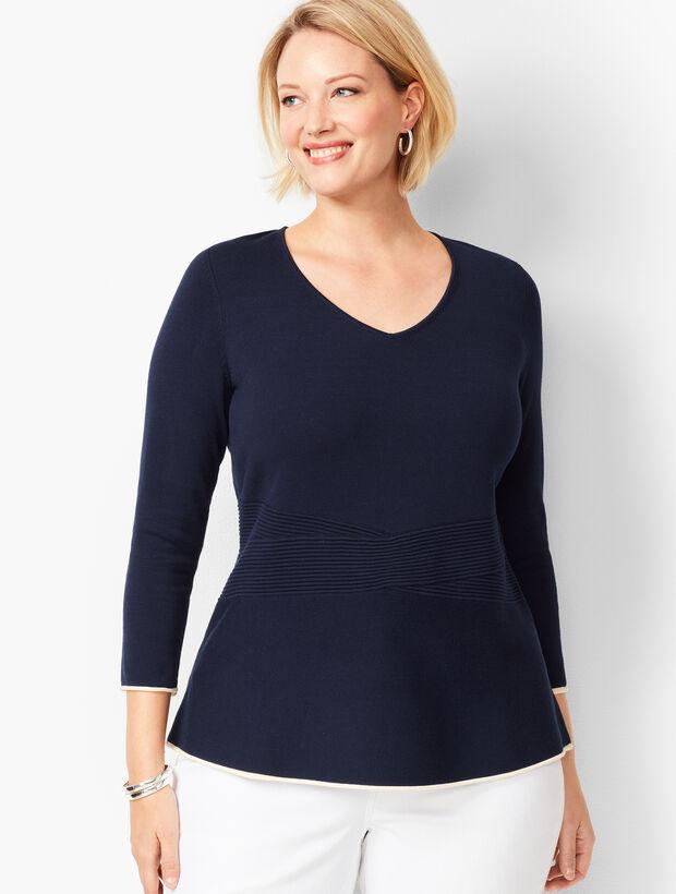 Tipped Peplum Sweater