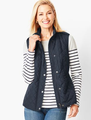 Quilted Fleece-Lined Vest