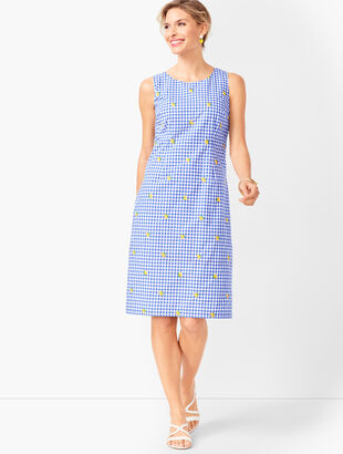 Lemons & Gingham Shift Dress