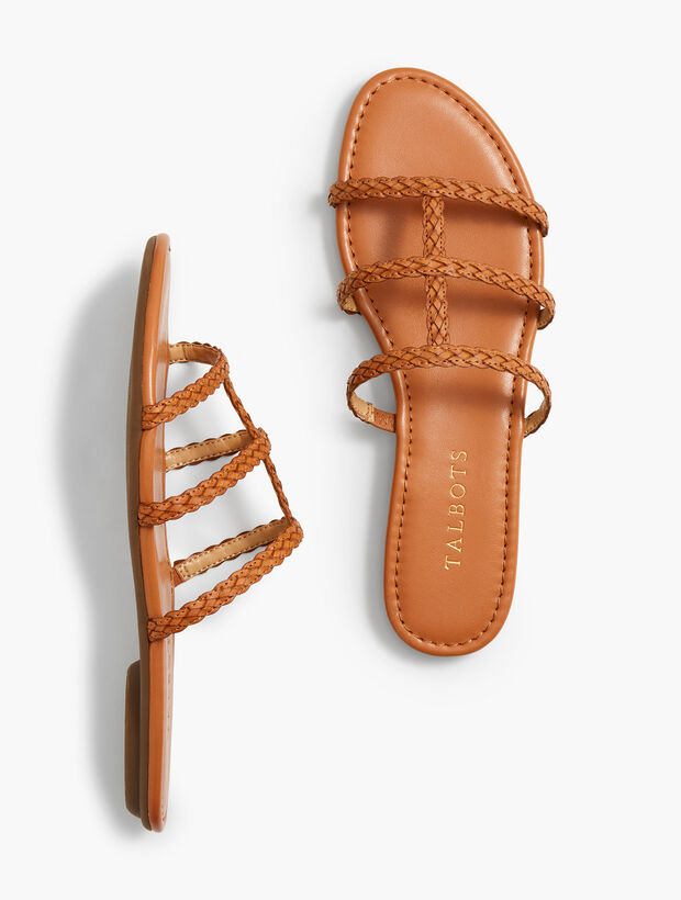 Sadie Braided Slides - Solid