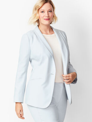 Italian Luxe Double-Cloth Single-Button Blazer