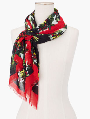 Holiday Garland Oblong Scarf