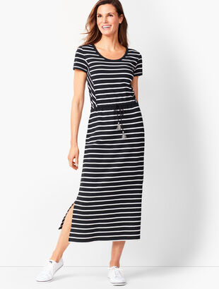 Sport Stripe Midi-Dress