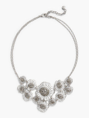 Filigree Petal Statement Necklace