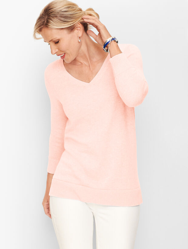 Double V Tie Back Sweater