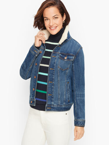 Sherpa Collar Classic Jean Jacket