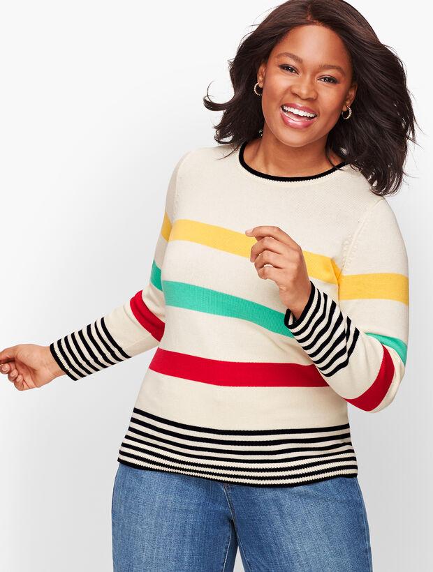 Pima Cotton Stripe Sweater