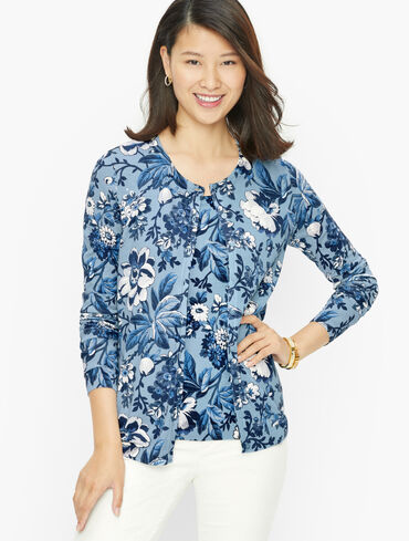 Charming Cardigan - Floral Toile