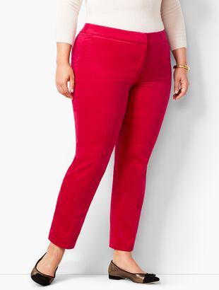 Plus Size Talbots Velveteen Hampshire Ankle Pant
