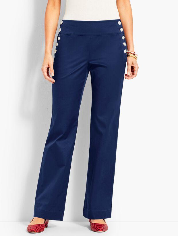 High-Waist Wide-Leg Sailor Pant
