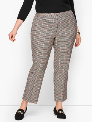 Plus Size Talbots Hampshire Ankle Pants - Colton Check
