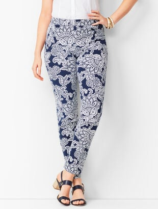 Talbots Chatham Ankle Pants - Curvy Fit - Paisley