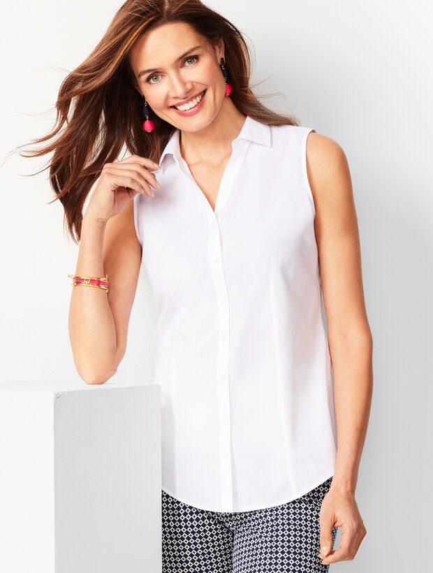 Sleeveless Perfect Shirt - Solid