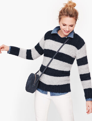 Ultra Plush Stripe Sweater