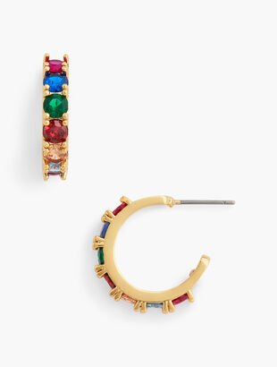 Bejeweled Hoop Earrings