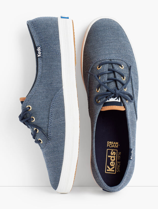 Keds® Champion Sneakers - Ticking Canvas