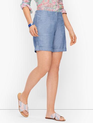 "Summer Cargo Shorts - 6"" - Chambray"