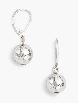 Hammered Sphere Earrings