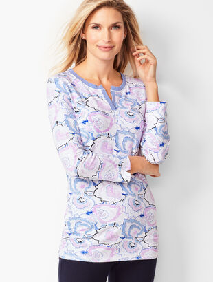 Side Cinched Top - Floral