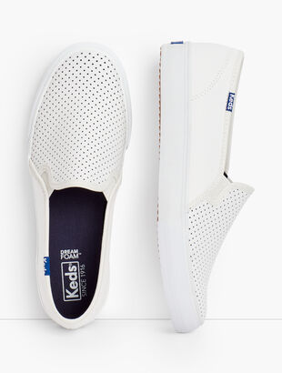 Keds® Double Decker Perforated Slip-On Sneakers