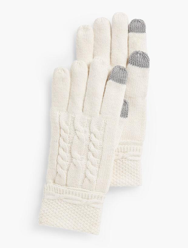 Cable Stitch Touch Gloves