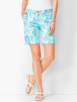 Girlfriend Chino Shorts - Fresco Paisley