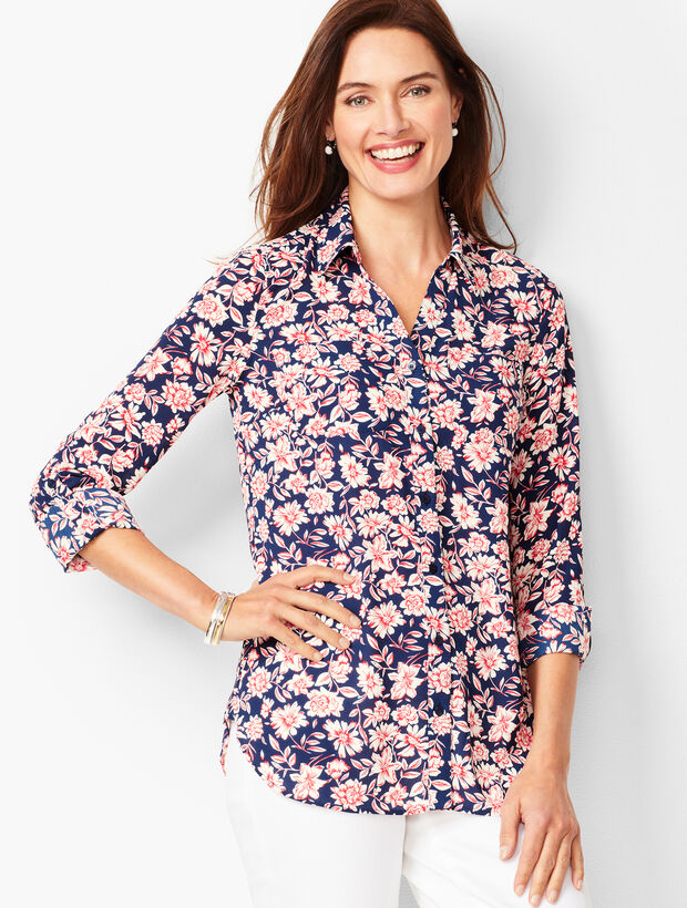 Soft Cutaway Blouse - Dainty Floral